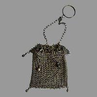 Antique GERMAN Mesh Fashion DOLL Chatelaine Purse