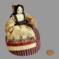 Sweet Handmade Silk Stockinette Stuffed Italy DOLL