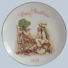 Holly Hobbie 1979 Christmas Plate