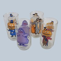 Four McDonalds Character Glasses