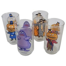 Four McDonalds Character Glasses