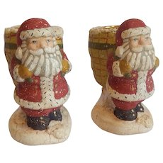 Midwest Of Cannon Falls Santa Candle Holders