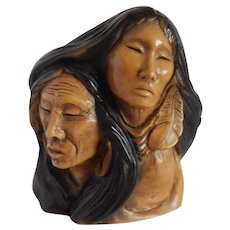 Thomas B Maracle Native American Together In Love Sculpture