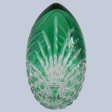 AJKA Emerald Green Crystal Egg