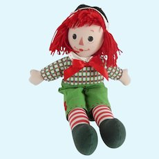 Madame Alexander Raggedy Andy Christmas Cloth Doll