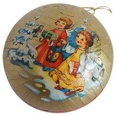 Western Germany Angel Paper Mache Christmas Ornament