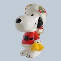 Peanuts Snoopy Santa Claus Christmas Ornament