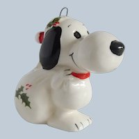 Peanuts Snoopy With White Sack Ornament