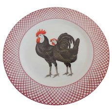 The Haldon Group Devonshire Black Rooster and Hen Plate
