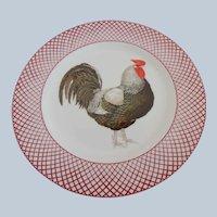 The Haldon Group Devonshire Black Rooster Plate