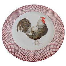 The Haldon Group Devonshire Black Rooster Plate