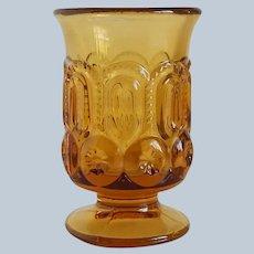 Amber Moon & Stars L. E. Smith Glass