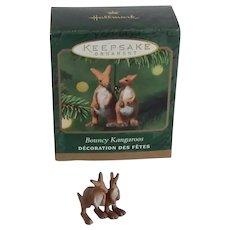 Hallmark Noah's Ark Miniature Bouncy Kangaroos Ornament