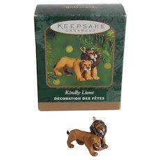 Hallmark Noah's Ark Miniature Kindly Lions Ornament