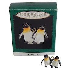 Hallmark Noah's Ark Miniature Playful Penguins Ornament