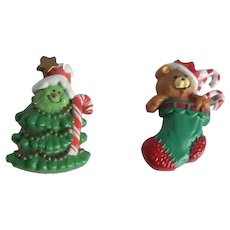 Two  Hallmark Cards Christmas Pins