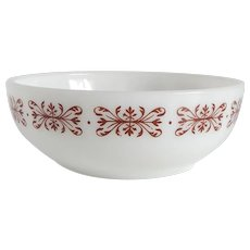 Anchor Hocking Fire King Copper Filigree Cereal Bowl