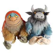 Crocodile Creek Sipi and Bearnard Plush Toys Where The Wild Things Are