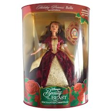 Holiday Princess Belle Beauty And The Beast Doll