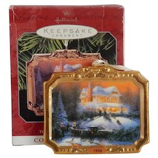Hallmark Victorian Christmas II Thomas Kinkade Ornament