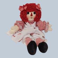 Raggedy Ann Cloth Doll