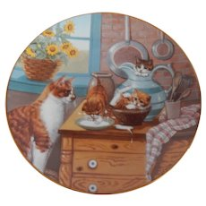 Hamilton Collection Table Manners Cat / Kitten Plate