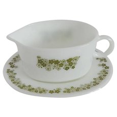 Pyrex Spring Blossom Gravy Boat with Plate