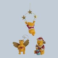 Three Midwest Cannon Falls Winnie the Pooh Ornaments