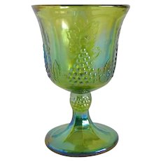 Indiana Glass Harvest Green Goblet