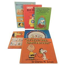 Six Charlie Brown and Snoopy Books
