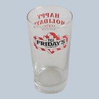 TGI Fridays Restaurant Cocktail Holiday 1979 Glass