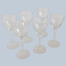 Boda Sweden Six Chateau Sherry Glasses