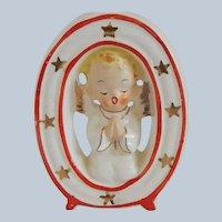 Saji Noel Angel O Candle Holder Figurine
