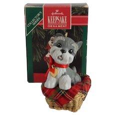 Hallmark Keepsake Puppy Love  Schnauzer Christmas Ornament