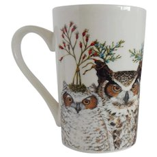 Vicki Sawyer Mug with Owls with Hats