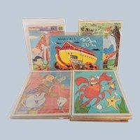 Set Of 13 Children's Puzzles