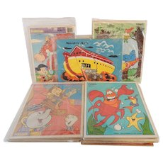 Set Of 13 Children's Puzzles