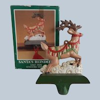 Midwest Cast Iron Reindeer Christmas Stocking Holder