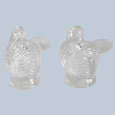 Shannon Crystal Turkey Salt and Pepper Shakers