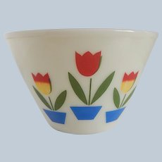 Fire King Large Tuilp Mixing Bowl
