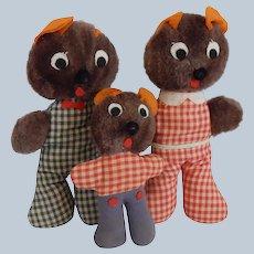 Three Storybook Character Stuffed Bears