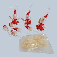 Group Of Santa Christmas Decorations