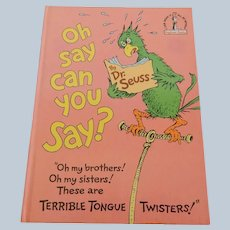 Dr. Seuss Oh Say Can You Say