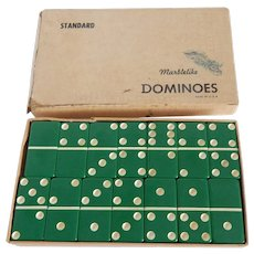 Puremco Marblelike Green Dominoes