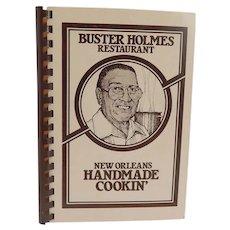 Buster Holmes Restaurant Cookbook 1980