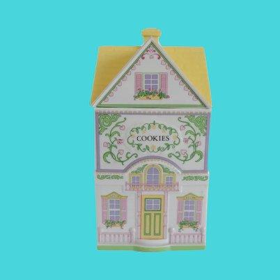 The Lenox Village Cookie Cottage Jar