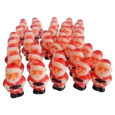 Forty Plastic Santa Claus Christmas Tree Light Covers