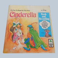 Peter Pan Cinderella Book and Record