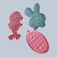 Three Hallmark Easter Cookie Cutters