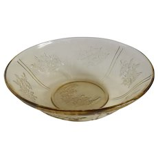 Federal Glass Co. Amber Sharon Serving Bowl